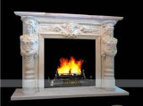 Fp1002 Beige Marble Fireplace Mantel Surround