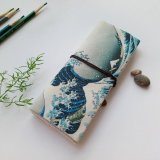 Vintage Pencil Case School Canvas Roll Pouch Makeup cosmetic Brush Pen Storage Bag Holder Pecncil Box Estuches Papelaria