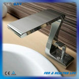 Single Handle Brass Square Bathroom Waterfall Basin Faucet