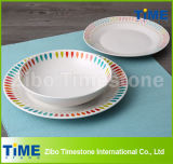 Round Shape Decal Porcelain Dinner Ware