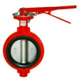 Centerlined Wafer Type Butterfly Valve with Stainless Steel Disc