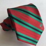 Handmade Men Jacquard Woven Polyester Logo Tie (L064)