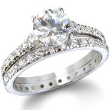925 Sterling Silver Cubic Zirconia Engagement Rings