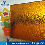 Amber Nashiji Patterned Glass with CE & ISO9001