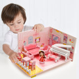 Children Educational Wooden Living Room Furniture Set Dollhouse Puzzle Toys