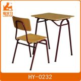 Student Metal Desk and Chair of Plywood for Education
