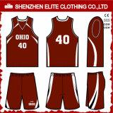 Custom Wholesale Good Price Basketball Jersey Uniform (ELTBNI-12)