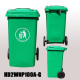 100L Cheap Multicolor Plastic Wheeled Outdoor Trash Bins for Sale