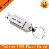 Customized Silkscreen Logo Rotating Metal USB Memory Stick (YT-1209)