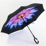 Newsight Reverse/Inverted Double-Layer Waterproof Straight Umbrella