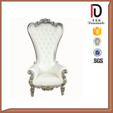 Exquisitely Carved Solid Wood Medium Back Throne Chair for Wedding (BR-LC038)
