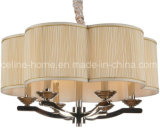 China Interior Pendant Lighting with a Fabric Shade (SL2061-6N)