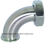 304ss 90 Degree Clamp Plain Bevel Seat W/Hex Nut Elbow