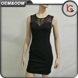 New Fashion Ladies Dress Black Sexy Backlesss Party Lady Short Dress Elegant Formal Dress