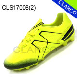 PU Leather Men Football Outdoor Shoes with TPU Sole