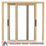 Champagne Color Aluminum Sliding Window