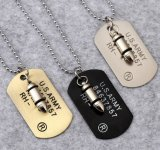 Bullets Army Pendant Fashion 316L Stainless Steel Jewelry Necklace