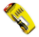 Hand Tools 5 in 1 Cr-V Steel Stubby Ratchet Screwdriver Set