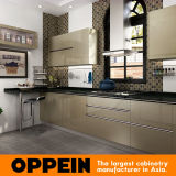 Oppein Modern Green Golden Silver-Flashing Kitchen Cabinet (OP16-L26)