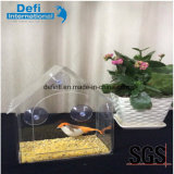 Acrylic Glass Bird Feeder with Water Tray