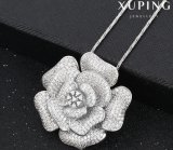 32051 Fashion Luxury Big Flower Jewelry Pendant Necklace in Synthetic CZ