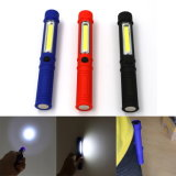 COB LED Portable Flashlight Torch with Magnetic Clip for Camping