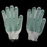 7g String Knitted PVC Double Dotted Work Glove