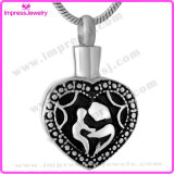 Stainless Steel Corrosive Heart Pendants with Necklace/Chain Ijd9523