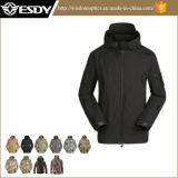 Military Men′s Outdoor Hunting Hoodie Waterproof Softshell Jacket
