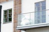 Modern Decorative Framless Tempered Glass Balustrade (PR-1005)