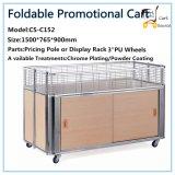 Supermarket Foldable Promotional Cart, Stacking Rack, Promotional Rack