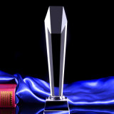 Clear Cheap Crystal Glass Trophy for Souvenir