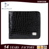 Fashion Custom Logo Genuine Embossed Leather Unisex Card Men Wallet