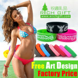 Debossed Embossed Imprinted Silicone Wristband for Advertising Gift