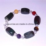 Semi Precious Stone Fashion Natural Crystal Agate Charming Bracelet