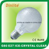 G80-40W 60W Ice Crystal Clear Incandescent Bulb