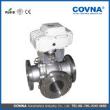 5 Inch Motorized 3 Way Stainless Steel Electric Ball Valve