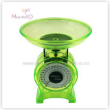 12*6.5*14cm Plastic Mechanical Kitchen Food Scale (1kg)