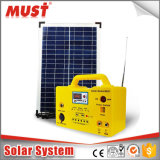 10W 20W 30W Portable DC Solar Kits for Camping with MP3 Radio