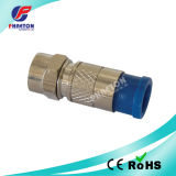 RG6 Rg11 RF Compression Cable Connector for Coaxial Cable