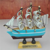 100% Safe Painting 10 Cm Wooden Ship
