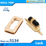 Light Gold Bag Hardware Turn Lock