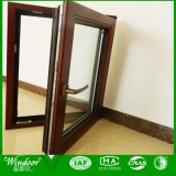 Double Glazing Wooden Skin Printing Plastic Window