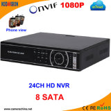 24 Channel H. 264 Standalone 8SATA Digital NVR Recorder