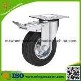 Industrial Steel Core Black Rubber Caster Wheel