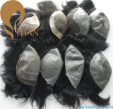 Natural Hair System 100% Human Hair Toupee for Men