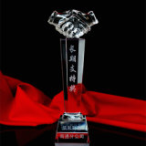 High Quality Glass Crystal Trophy for Business Gift (KS04205)