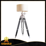 Fabric Lampshade with Wood Tripod Floor Lamps (KAF715L)