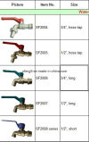 Brass Nature Colour or Chromed Plated Brass Water Taps
