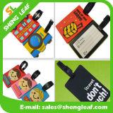 Hot Sale Custom Logo PVC Rubber Luggage Tag (SLF-LT036)